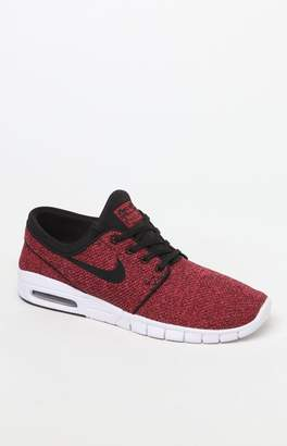 Nike SB Stefan Janoski Max Black & Red Shoes