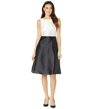 Calvin Klein Color Block A-Line Evening Dress