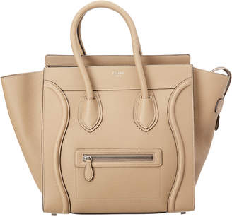 Celine Mini Drummed Leather Luggage Tote
