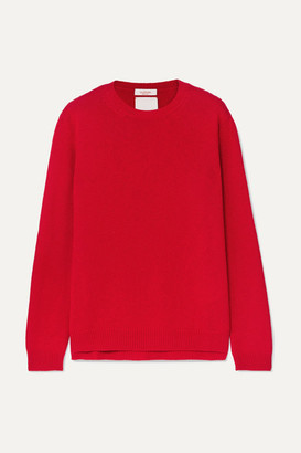 Valentino Studded Cashmere Sweater - Red