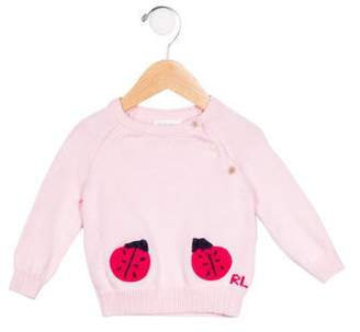 Ralph Lauren Girls' Embroidered Knit Sweater
