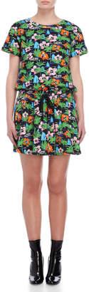 Love Moschino Printed Short Sleeve Dress
