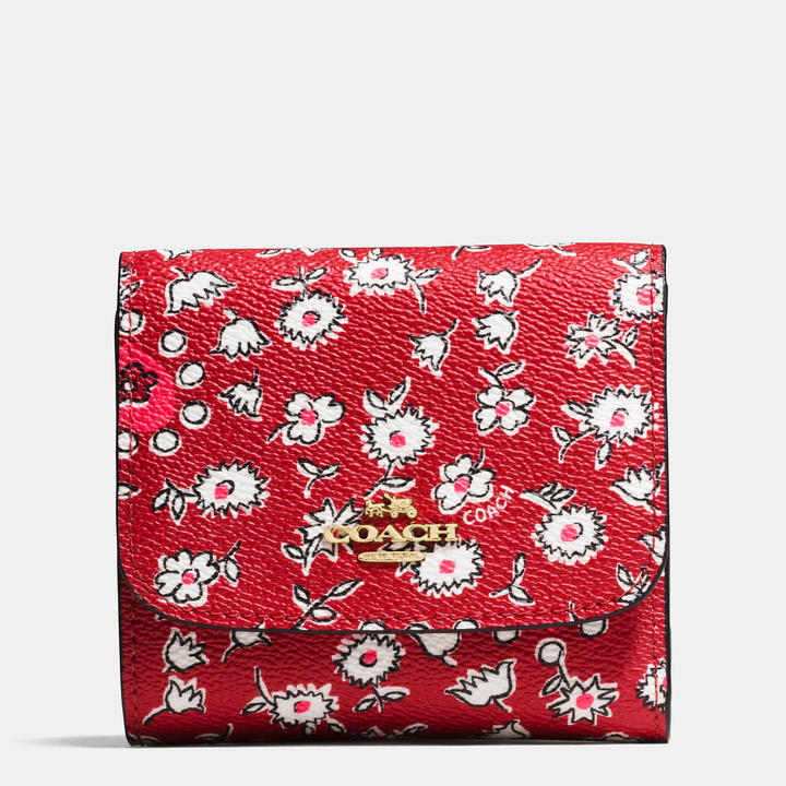 Coach   COACH Coach Small Wallet In Wild Hearts Print Canvas