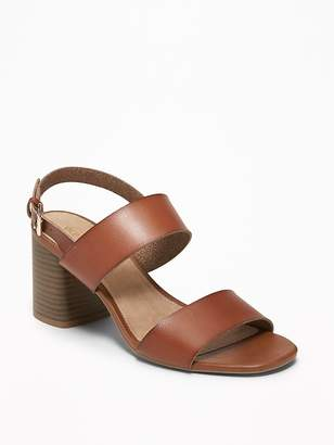 Old Navy Faux-Leather Slingback Block-Heel Sandals for Women