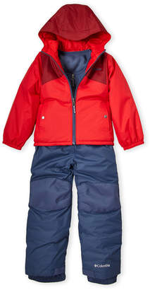 Columbia Boys 4-7) Two-Piece Color Block Hooded Jacket & Snow Bib Set