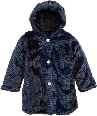 Widgeon Hooded Faux Fur Coat