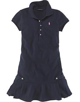 Polo Ralph Lauren Pleated Stretch Polo Dress (2-7 Years)