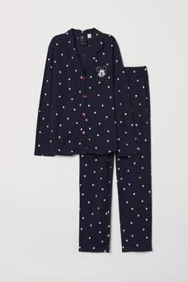 H&M Pajama Shirt and Pants - Blue