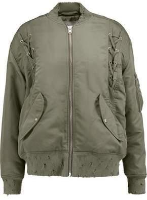 IRO Distressed Shell Bomber Jacket