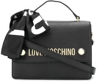 Love Moschino logo scarf satchel
