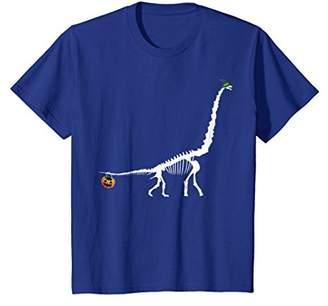 Brontosaurus Skeleton Witch Hat Halloween Costume Shirt