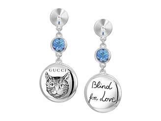 Gucci Blind for Love Gato Earrings