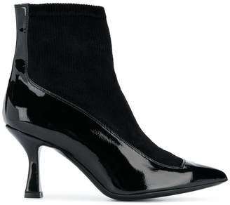 Racine Carree varnished ankle boots