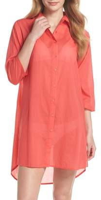 Echo Solid Cover-Up Dress