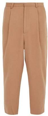 Wyatt Deveaux Wool Blend Trousers - Mens - Camel
