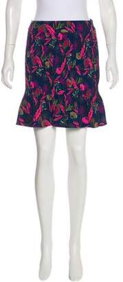 Saloni Pleated Floral Print Skirt w/ Tags