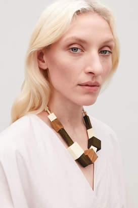 Cos MIXED-BEAD WOOD NECKLACE