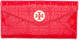 Tory Burch Tory Burch Embossed Patent Leather Wallet