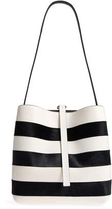 Proenza Schouler Frame Patchwork Pieced Leather and Genuine Calf Hair Shoulder Bag