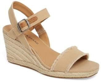 Lucky Brand Marceline Squared Toe Wedge Sandal (Women)