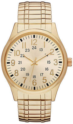 FASHION WATCHES Mens Gold Tone Expansion Watch-Fmdjo141
