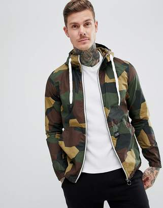 Pull&Bear Hooded Jacket In Green