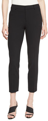 Ralph Lauren Collection Heidi Straight-Leg Ankle Pants, Black $750 thestylecure.com