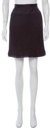 Louis Vuitton KNee-Length Rib Knit Skirt