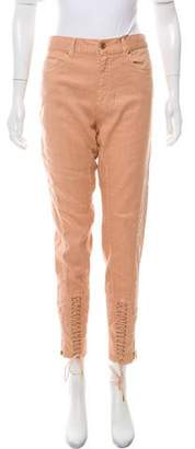 Gucci High-Rise Lace-Up Jeans w/ Tags