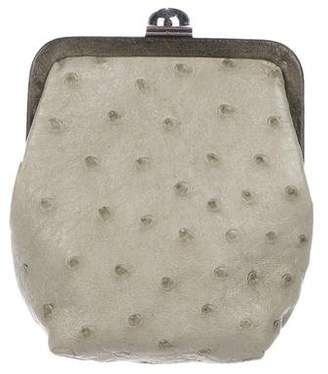 Reed Krakoff Ostrich Coin Purse