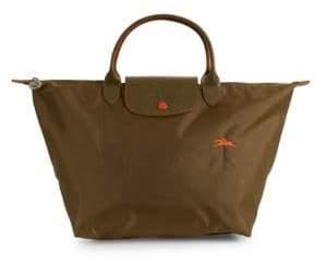 Longchamp Le Pliage Club Leather Top Handle Bag