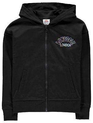 Lonsdale London Kids Girls Zipped Hoodie Zip Hoody Hooded Top Print