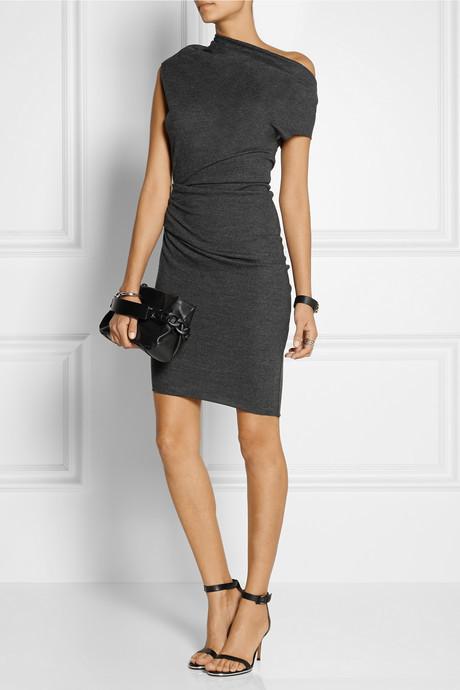 Helmut Lang Sonar asymmetric wool dress 3