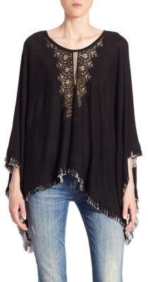 Ella Moss Jonis Knit Poncho $255 thestylecure.com