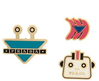 Prada futuristic pins