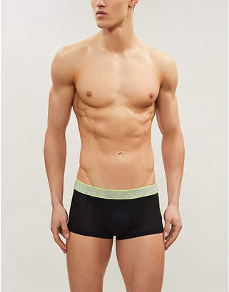 Hom Cross Neon slim-fit mesh trunks