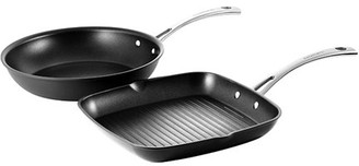 Cuisinart Chef iA+ Frypan 26cm and Grill Pan 28cm Twin Pack Hard Anodised