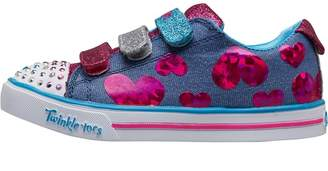 Skechers Girls Twinkle Toes Sparkle Lite Flutter Fab Pumps Blue