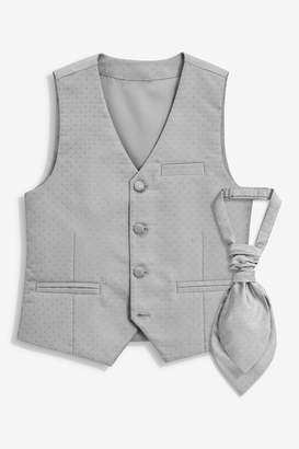 Next Boys Silver Wedding Waistcoat (12mths-16yrs) - Silver