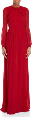 Giamba Long Sleeve Silk Gown