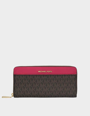 MICHAEL Michael Kors Large EW Crossbody Bag in Pearl Grey Saffiano Leather