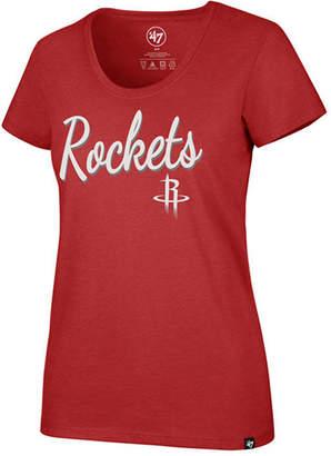 '47 Women Houston Rockets Script Scoop T-Shirt
