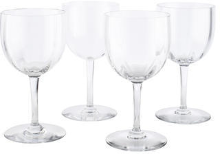 Baccarat Baccarat Set of Four Montaigne Optic Tall Water Goblets