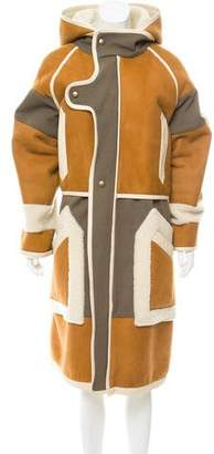 Chloé Patchwork Aviator Shearling Coat