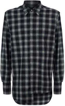 Solid Homme Check Cotton Shirt