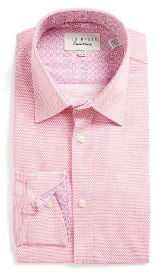 Men's Ted Baker London Carver Trim Fit Geometric Dress Shirt 5