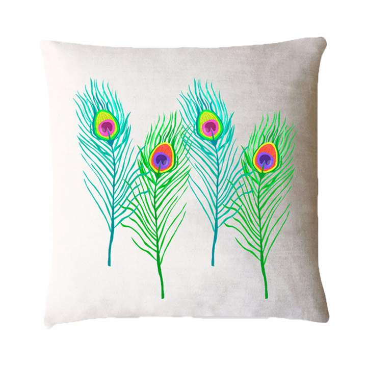 Fenella Smith – Peacock Feather Cushion