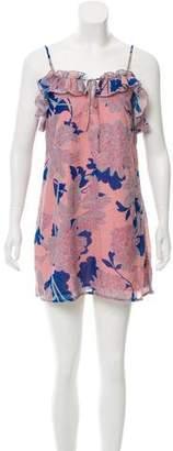 Red Carter Print Mini Dress w/ Tags