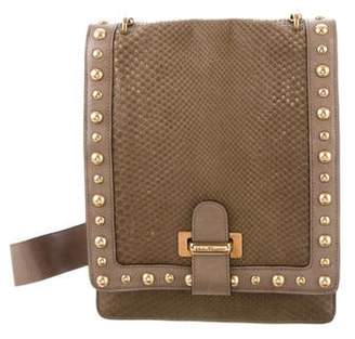 Salvatore Ferragamo Studded Snakeskin Crossbody Bag