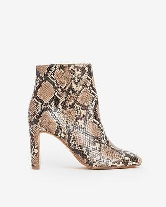 Express Faux Snakeskin Booties